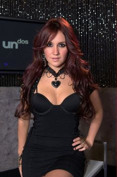 Picture of Dulce María Gorgeous Redhead, Beautiful Eyes, Beautiful Women, Goth Chic, Mexican Actress, Bright Red Hair, Attractive Girls, Backless Prom Dresses, Girl With Curves