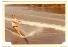 My brother sloleming when he was a boy. #waterskiing #lakeoftheozarks #gravoismill