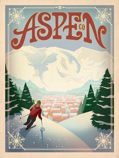 Aspena - American Travel Posters
