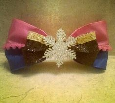 Anna Inspired Frozen Hair Bow by BlueBugRain on Etsy, $8.00