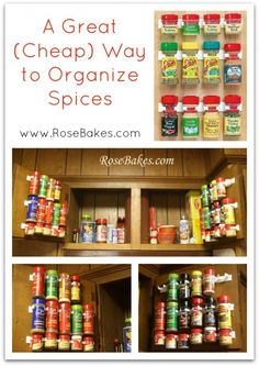 A Great Easy Cheap Way to Organize Spices.. maybe The Best Way to Organize Spices… EVER!