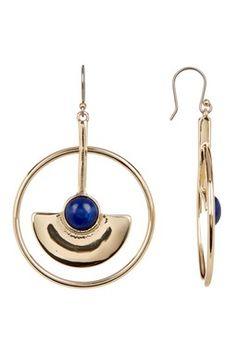High Shine Open Circle Drop Earrings