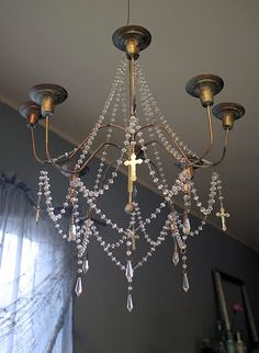Chandelier; rosary inspired? I love it.
