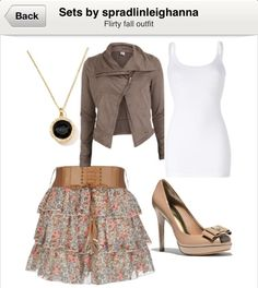Flirty fall outfit