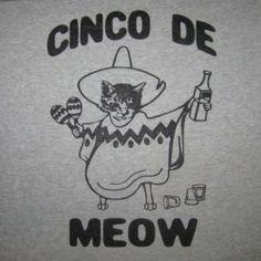 Men's Cinco De Meow T-Shirt funny cinco de mayo mexican cat shirt  Better Than Real Life Tees #betterthanreallifetees