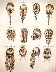 Image result for how to draw hair braids