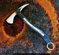 Hatchet made from a large open end wrench tool spanner is the marketplace for custom made items built to your exact specifications by talented makers. Get bids for free, no obligation! Cool Knives, Knives And Tools, Knives And Swords, Open End Wrench, Tomahawk Axe, Beil, La Forge, Homemade Weapons, Forged Knife