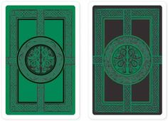 Celtic Premium Plastic Playing Cards (Bridge Size), Books & Gifts, Playing Cards, Peter Pauper Press