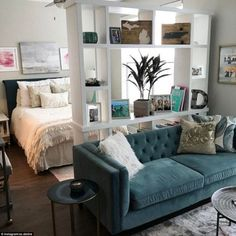 Beautiful Studio Apartment Decor Ideas On A Budget. If you are looking for Studio Apartment Decor Ideas On A Budget, You come to the right place. Below are  Apartment Decoration, First Apartment Decorating, Apartment Ideas, Home Decoration, Apartment Styles, Apartment Bedrooms, Small Cozy Apartment, Small Appartment, Apartment Cleaning