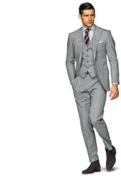Suitsupply Washington Grey Wool 3-Piece Suit