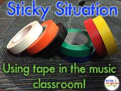 Full of ideas for using tape to organize, color code, and simplify your teaching life! See how to use tape in your music classroom in new and creative ways.