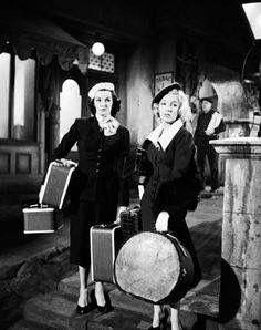 """Marilyn Monroe and Jane Russell, """"Gentlemen Prefer Blondes"""", 1953."""