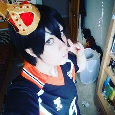 Off to the meet  #tobiokageyamacosplay #kageyamatobiocosplay #tobiokageyama #malecosplay #selfie #test #makeup #sports #animecosplay #manga #anime #haikyuucosplay #haikyuu #kageyama #cosplayer #wig #sportsanime