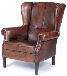 I really want a vintage leather wingback chair.  And I love the nailheads.  I'm tempted to recover my grey flannel wingback but I love it too much.