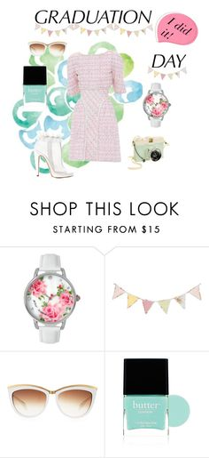 """""""I did it!"""" by wedonthavetolivethisway ❤ liked on Polyvore featuring Chanel, Viktor & Rolf, Betsey Johnson, Alexander McQueen, Butter London, Lomography and graduationdaydress"""