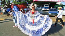 """Thousand """"Polleras"""" Parade 2014 - (Las Tablas, Panama)"""