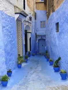 Chefchaouen, the Blue City, Morocco Mekka, Blue City, The Places Youll Go, My Favorite Color, Shades Of Blue, Beautiful Places, Beautiful Pictures, Around The Worlds, Blue And White