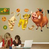 The Fathead Disney Lion King Wall Decal is made from tough, tear and fade-resistant vinyl and features high-resolution graphics. Fathead wall graphics use a low-tack adhesive and can be moved and removed from walls without damaging surfaces. Disney Wall Decals, Nursery Wall Decals, Lion King Nursery, Disney Lion King, Removable Wall Decals, Cool Walls, New Baby Products, Kids Room, Nursery Ideas