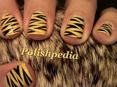 mooie tijger  nagels
