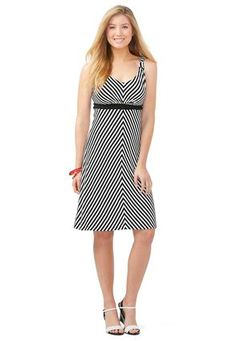 This is the most comfortable, flirty dress!  Cato Fashions Zigzag Knit Dress – Plus  #CatoFashions