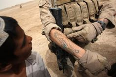 The Marine Corps takes a conservative approach to personal appearance. Here is the Marine Corps policy concerning tattoos.