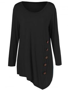 GET $50 NOW | Join RoseGal: Get YOUR $50 NOW!http://www.rosegal.com/plus-size-tops/plus-size-inclined-buttoned-blouse-727049.html?seid=6833286rg727049