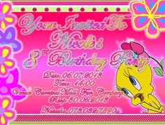This is a Post Card Invitation, I printed it back to front, with a a girly design on the front, and party details on the back . Invitation Cards, Invitations, Post Card, Winnie The Pooh, Girly, Printed, Disney Characters, Design, Women's