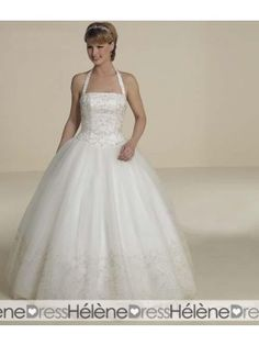 Ball Gown Halter Top Floor Length Lace wedding dress for brides 2010 style(WDA0311) - Ball Gown Wedding Dresses - Wedding Dresses