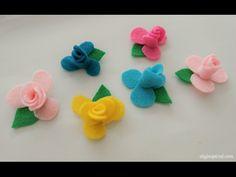 DIY Craft: How to Make Mini Felt Flowers - YouTube