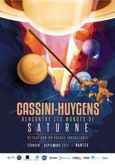 Création de l'affiche Cassini-Huygens rencontre les mondes de Saturne... | JulienG graphiste illustrateur Webdesigner Vendée Nantes