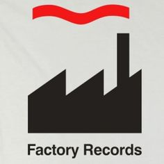The mighty Factory Records logo Label Design, Logo Design, Graphic Design, Record Label Logo, Factory Records, Peter Saville, Rock Album Covers, Happy Song, Text Layout