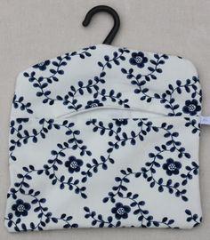 Blueprint of plants fabric peg bag peg bag and fabrics white and blue flora peg bag 800 malvernweather Image collections