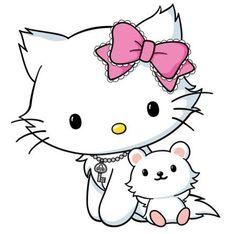 Angel Cat aka Charmmy Kitty and hamster Sugar . Sanrio Hello Kitty, Hello Kitty Art, Hello Kitty Iphone Wallpaper, Sanrio Wallpaper, Hello Kitty Pictures, Kitty Images, Hello Kitty Imagenes, Gata Marie, Miss Kitty