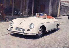 1956 Porsche 356. Such a cute little car-not sure if I could see myself driving one of these, but it's still so cute. I love vintage cars!