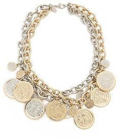 Kenneth Jay Lane Coin Necklace on shopstyle.com