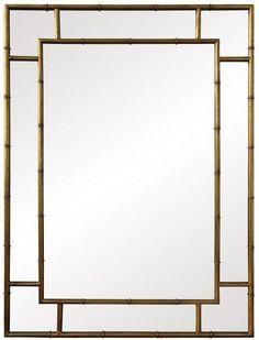 Iron Bamboo Mirror Gold