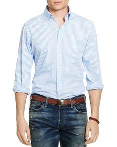 Polo Ralph Lauren Striped Poplin Regular Fit Button Down Shirt