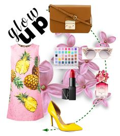 """Untitled #93"" by maha-asa on Polyvore featuring Dolce&Gabbana, INC International Concepts, Furla, Jimmy Choo, Shany, Marc Jacobs and NARS Cosmetics"