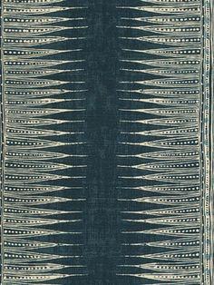 DecoratorsBest - Detail1 - LJ 2010136-50 - INDIAN ZAG INDIGO - Fabrics - - DecoratorsBest