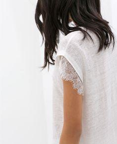 Image 5 de T-SHIRT ORNÉ DE DENTELLE de Zara