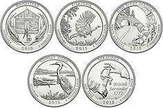10   BU COINS SET 2011 P/&D NATIONAL PARKS QUARTERS