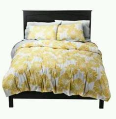 New mustard yellow, white, and gray duvet cover from Target