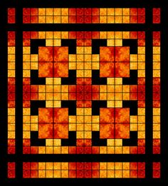 Squares Upon Squares - Beautiful and would look great on my bed!