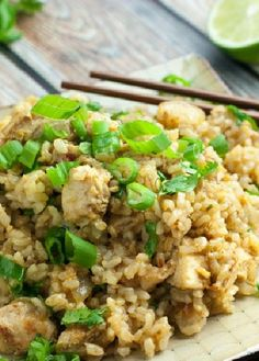 Low FODMAP and Gluten free - Chicken fried rice