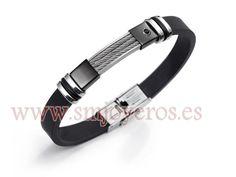 Pulsera Viceroy Fashion acero bicolor IP negro caucho caballero  REFERENCIA: 6024P09010  Fabricante: Viceroy