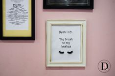 DIY Makeup Wall Art with Lashes