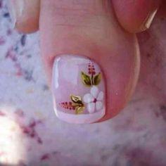 Pedicure Designs, Pedicure Nail Art, Toe Nail Designs, Toe Nail Color, Toe Nail Art, Acrylic Nails, Pretty Toe Nails, Cute Toe Nails, Simple Nail Art Designs