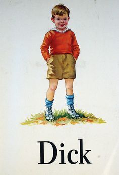 Dick and Jane.Dick did you see Jane? Did you see Spot run? Still have my books! Vintage Children's Books, Vintage Love, Jessie Willcox Smith, Ladybird Books, Vintage School, Book Illustration, Childhood Memories, Childrens Books, Nostalgia