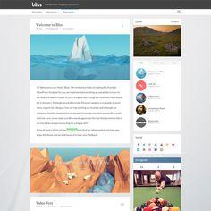 Bliss Personal Minimalist Blog WordPress Theme   WordPress Theme Download