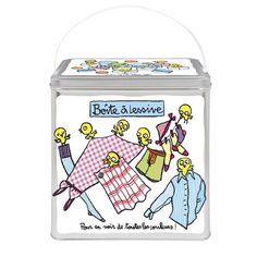 Grande lessive - Boîte à lessive-linge Toutes les couleurs | Boîte de rangement Derrière la porte - Nylin Valérie